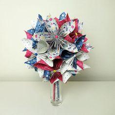 Bouquet de mariée origami tropical bouquet de mariage