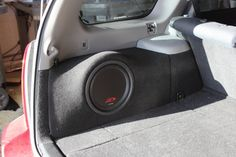 Subaru Forester 2008 Custom fiberglass subwoofer enclosure