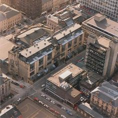 Image of Glasgow School of Art site from above showing front of Mackintosh building, Newbery Tower Glasgow Architecture, Interior Architecture, Interior Design, Glasgow School Of Art, Art School, Art Nouveau, Art Deco, Martin Gore, Charles Rennie Mackintosh