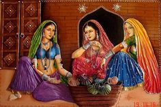 Does anyone in this forum has pictures / sketches for Rajasthani Painting. Clay Wall Art, Mural Wall Art, Mural Painting, Murals, Canvas Paintings, Clay Art, Village Scene Drawing, Art Village, Rajasthani Painting