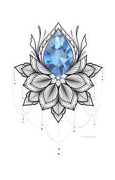 Geometric Mandala Tattoo, Henna Mandala, Mandala Tattoo Design, Tattoo Design Drawings, Flower Tattoo Designs, Flower Mandala, Tattoo Sketches, Flower Art, Tattoo Stencils