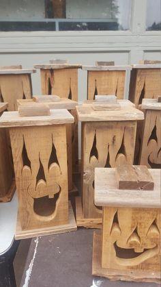 Wood lantern made with rustic worn wood Jack-O-Lantern for   Etsy