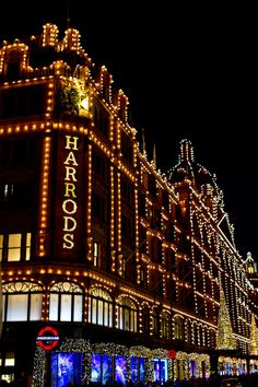 Harrods | London - a friend & I took a cab and shopped here! Loved it!