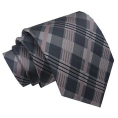 Pink Grey and Black plaid neck tie. Available at Www.williampollock.clothing