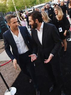 """You've probably seen pics of Ryan Reynolds and Jake Gyllenhaal together recently and wondered """"WTF is going on with these two?"""" 