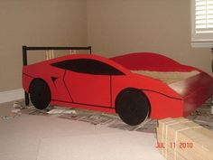 diy car bed. my kids are gonna be so cool