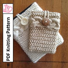 ************* This listing is for a knitting pattern only *************** Personalize and protect your device with this quick to knit