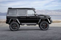 Mercedes-Benz by Brabus The German tuner. - Mercedes-Benz by BrabusThe German tuner has given the rugged off-roader more power and torque, as well exterior and interior enhancements. [[MORE]]The Brabus-tuned G 500 is rated at. Mercedes Benz G500, Mercedes G Wagon, Mercedes Benz G Class, Classic Sports Cars, Classic Cars, Dream Cars, Super Cars, Jeeps, Dream Machine