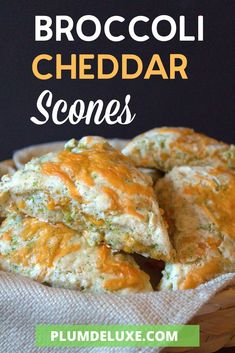 This buttermilk scone recipe is seriously the best you'll have this year! Stuffed with steamed broccoli and cheesy goodness!   #scone #recipe #scones #broccoli #cheddar #cheese #brunch #breakfast #baking #bake #easyscones