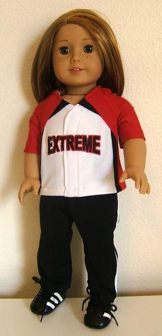 Custom 18 Doll Softball Baseball Replica Uniform by SewWowSewNow, $52.00