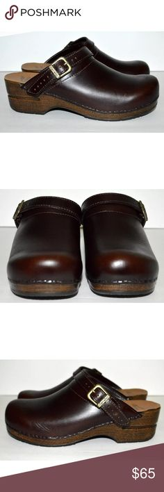 Dansko Espresso Oiled Full Grain Ingrid Mules Can be worn as an open-back clog or a sling back. Suit your mood and your style. Firm foot and arch support. Contoured midsole keeps your foot supported and secure. Superior shock absorption. Comparable to athletic footwear. Anti-fatigue rocker bottom. Keeps you going all day long. Roomy toe box. Allows toes to move comfortable.  CONDITION: Pre-owned and stored in a smoke free / dog friendly home. Normal wear from use as pictured such as light…