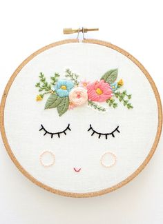 Meet Posy. Your latest embroidery project (and stealer of your heart).