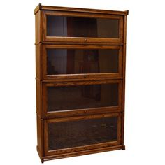 Barn Furniture offers wide selection of solid oak wood bookcases since Let us assist you with buying quality Bookcases at affordable prices. Custom Made Furniture, Solid Wood Furniture, Furniture Making, Barrister Bookcase, Bookcases, Craftsman Furniture, Restaurant Furniture, Arts And Crafts Movement, Solid Oak