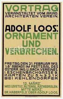 Adolf Loos, Ornament Und Verbrechen