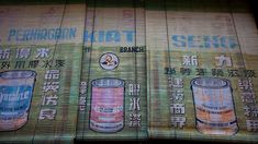 Old Bamboo Blinds, Advertising Paint by baldrick2dogs, via Flickr