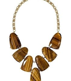 Harlow Statement Necklace in Tigers Eye