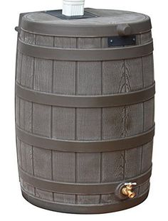 Good Ideas RW50-OAK Rain Wizard Rain Barrel 50 Gallon, Oak