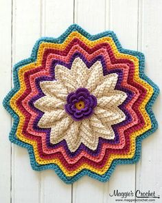 I love the colors on this crochet potholder.