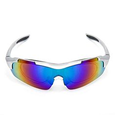 1422f3326971 Sports Cycling Sunglasses for Men Women Cycling Riding Running Glasses  Silver -- Check out this great product. (Note:Amazon affiliate link) # ...