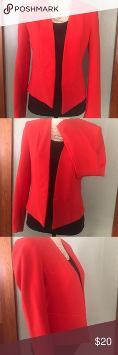 Red blazer Red long sleeve blazer ❤️clean line design in the front Forever 21 Jackets & Coats Blazers