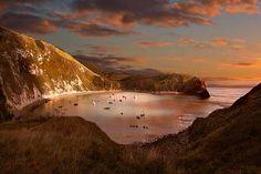 Lulworth Cove sunset - Dorset
