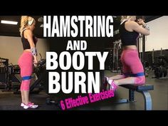6 Exercises For An Amazing Behind (hamstring & glute workout) - YouTube