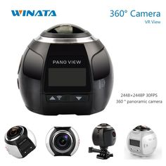 81.90$  Watch now - http://ali86u.worldwells.pw/go.php?t=32654589445 - 360 Camera Ultra HD 4K Panoramic Camera Build in WI-FI 360 Degree Video Camera Waterproof Sport & Action Driving VR Camera