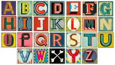 Illustrated Alphabet by Christian Northeast makes me happy.