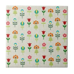 Retro folk flower pattern-me likey a lot!