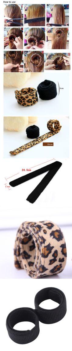 1PC Useful Hair Updo Wrap Fold Snap Bun Maker Hair Magic Styling Tool #violentlysweet #tina