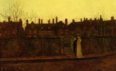 In the Golden Gloaming - John Atkinson Grimshaw,1881