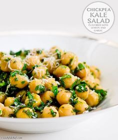 Chickpea Kale Salad -- easy make-ahead lunch for Phase 3 (just leave out the Parmesan)