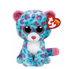 """<P>I am happy all the time, if I have a tree to climb!</P><P>Sydney is a cute blue leopard with pink spots and big glittery pink eyes. Part of the Ty Beanie Boos collection. Collect them all!</P><UL><LI><B>Claire's Exclusive</B><LI>Birthday: November 27th<LI>6""""H<LI>Plush</LI></UL>"""