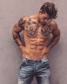small tattoos for guys ~ small tattoos . small tattoos with meaning . small tattoos for men . small tattoos for women with meaning . small tattoos for women on wrist . small tattoos for men on arm . small tattoos for guys Tattoos For Guys Badass, Hot Guys Tattoos, Boy Tattoos, Body Art Tattoos, Tattoos For Women, Sleeve Tattoos, Male Chest Tattoos, Tribal Tattoos, Tatoos Men
