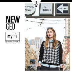 ¡Reinventa tu look! El Black & White vuelve con la tendencia #NewGeo. Combina tu outfit con unos lentes clásicos para un look sofisticado.   ¿Quieres saber más de esta #Tendencia? Entra a www.mylife.com.pe #MyLife #MeFascinaRipley
