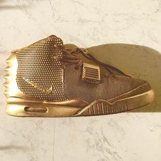 Gold Air Yeezy #nike