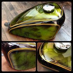 "chemical-candy-customs: ""#custompaint #metallic #acetylene #candypaint """