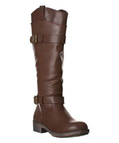 Look what I found on #zulily! Brown Laana Riding Boot by Steve Madden #zulilyfinds