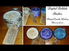 Candle-making Process | Crystals, Herbs | Reiki Charged | Unique | Decorative | Speciality Candles - YouTube