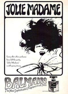 1965 Balmain Jolie Madame Perfume Ad