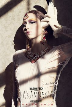 MAISON FINCH / Noir Tribe Media  PH: Ace Amir Model: Carolina Zapata Jaramillo   #MaisonFinch #MF #MaisonFinchArchive
