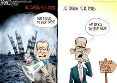 Political cartoons by A.Branco, member of the Association of American Editorial Cartoonists. Cartoon Title = Change Ya Can't Believe In. Al Qaeda, From Where I Stand, Fight For Us, Conservative Politics, Change, Funny Images, Wake Up, Obama