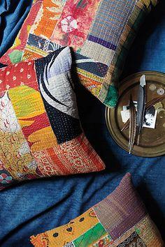 #Kantha #Patchwork #Pillow #Anthropologie