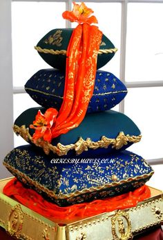 South Asian Inspired Pillow Cakes - CakesbyMavis