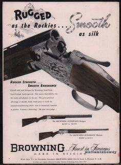 1950 BROWNING Superposed & Automatic Shotgun AD Rugged as the Rockies