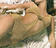Crochet Bikini ... Bikini Pattern with No von ChicVintagePatterns