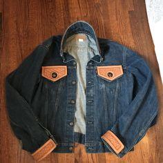 6faed5c8a6 Depop - The creative community s mobile marketplace. Vintage Levis JacketTooled  LeatherLeather ToolingDenim ...