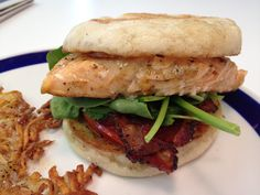 Does your bfast sandwich look like this?  Chef Patrick's delectable Salmon Florentine.