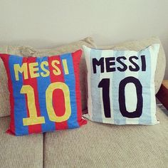 Messi Barcelona Argentina Jersey by PillowMeCrazyDesigns on Etsy