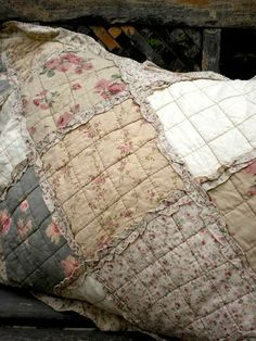 Sacks were treasures for the winter quilt. Plus, so old and tattered dresses.